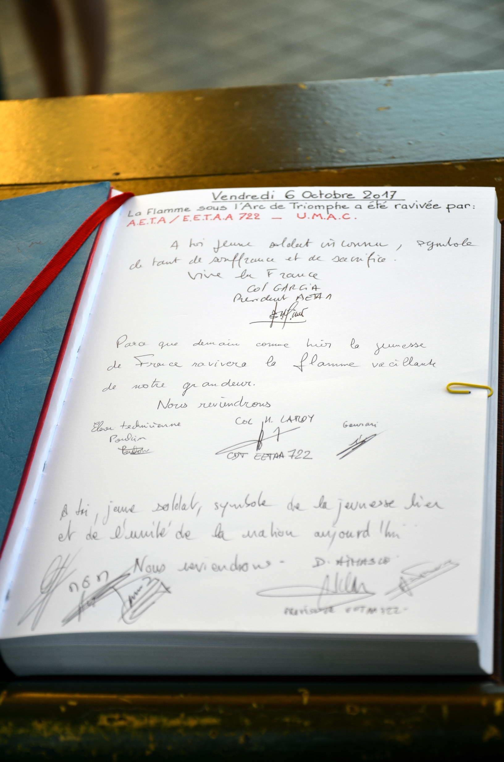 RAVIVAGE DE LA FLAMME SACRÉE PAR l'AETA 92