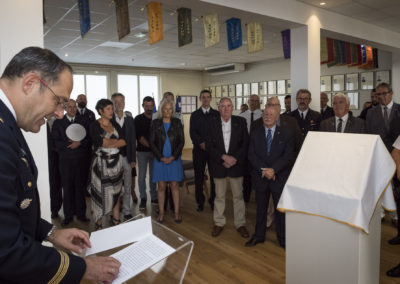 Inauguration de la nouvelle salle tradition de l'école baptisée « Les Écuyers du Ciel », Colonel Michel Ribot 3