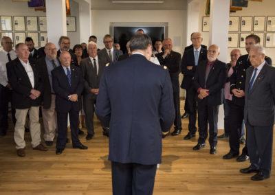 Inauguration de la nouvelle salle tradition de l'école baptisée « Les Écuyers du Ciel », Colonel Michel Ribot 2