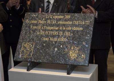 Inauguration de la nouvelle salle tradition de l'école baptisée « Les Écuyers du Ciel », Colonel Michel Ribot 17