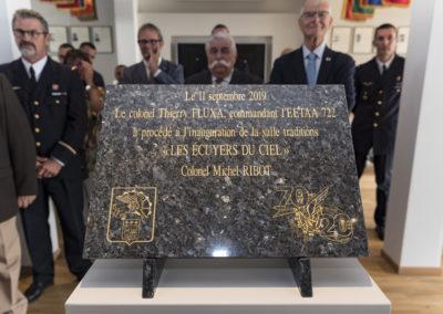 Inauguration de la nouvelle salle tradition de l'école baptisée « Les Écuyers du Ciel », Colonel Michel Ribot 22