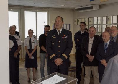 Inauguration de la nouvelle salle tradition de l'école baptisée « Les Écuyers du Ciel », Colonel Michel Ribot 23