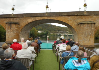 Croisière sur le lot entre le pont Valentré de Cahors et Parnac. 1