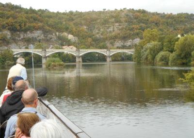 Croisière sur le lot entre le pont Valentré de Cahors et Parnac. 2