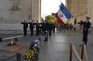 PRISE DE LA FLAMME SACRÉE SOUS L'ARC DE TRIOMPHE 24