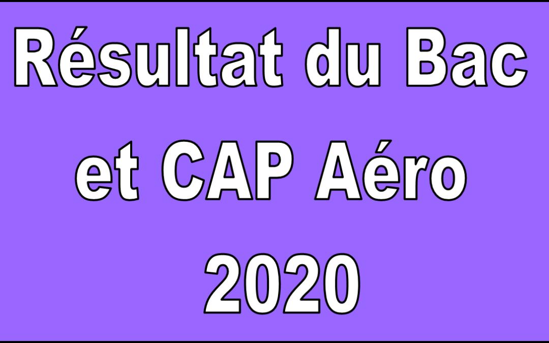 RÉSULTAT DU BAC ET CAP Aéro 2020 DE LA PROMOTION 151