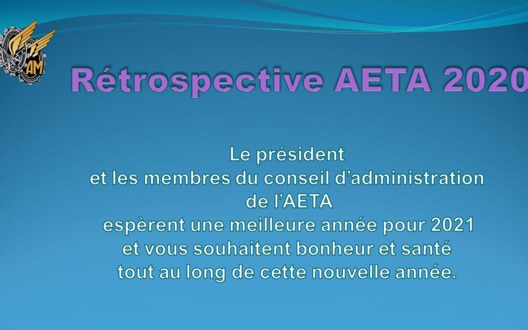 Rétrospective de l'AETA 2020 et VOEUX du Président et du C.A. pour 2021