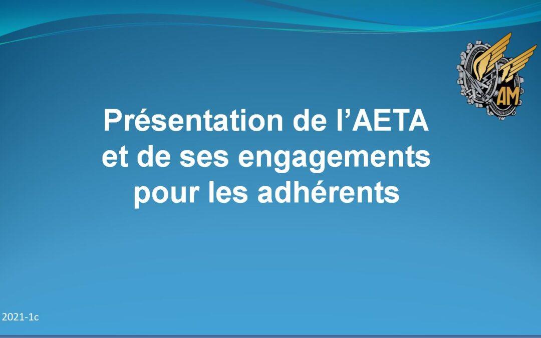 L'AETA 2021 expliqué à ses adhérents